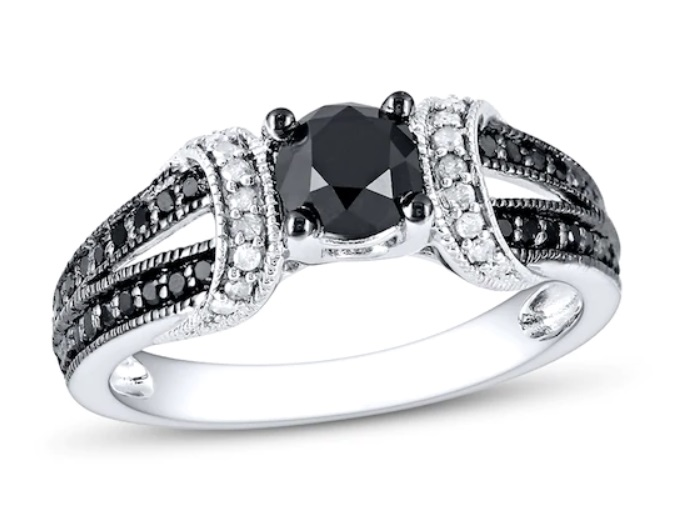 Kay Black and White Diamond Engagement Ring